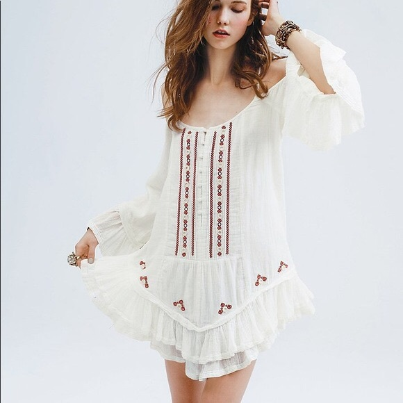 f594183ce80 Free People Dresses & Skirts - Free People FP One Flamenco Cold Shoulder  Dress